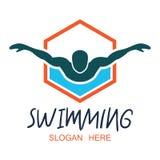 Logo de natation avec l'espace des textes pour votre slogan/slogan illustration libre de droits