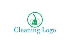 Logo de nettoyage de balai Images stock