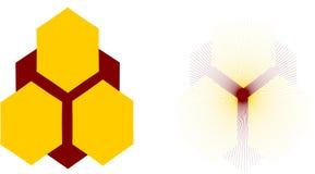 Logo de nid d'abeilles Photos libres de droits