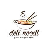 Logo de nouille d'épicerie Photographie stock