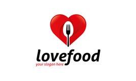 Logo de nourriture d'amour Photo libre de droits