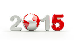 Logo 2015 de nouvelle année | illustration 3d Photo libre de droits