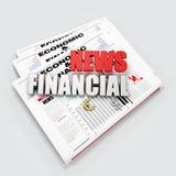 Logo de nouvelles financières Photo stock
