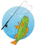 Logo de pêche Photographie stock libre de droits