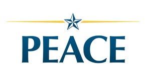 Logo de paix Photographie stock