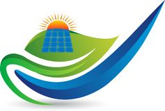 Logo de panneau solaire illustration de vecteur