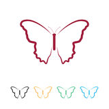 Logo de papillon Photo libre de droits