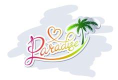 Logo de paradis Image libre de droits