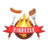 Logo de partie de barbecue Images libres de droits