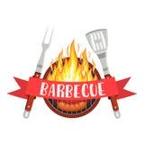 Logo de partie de barbecue Image libre de droits