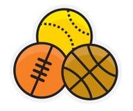 Logo de parties de baseball Image stock