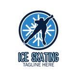 Logo de patinage de glace avec l'espace des textes pour votre slogan/slogan illustration de vecteur