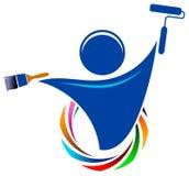 Logo de peintre image stock