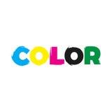 Logo de peinture de couleur Images libres de droits