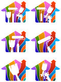 logo de peinture de maison Images libres de droits
