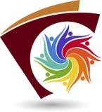 Logo de peuples illustration stock