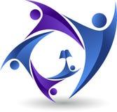 Logo de peuples d'éducation illustration stock