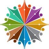 Logo de peuples de media illustration libre de droits