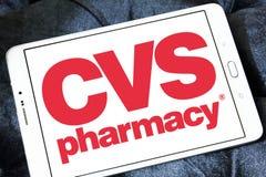 Logo de pharmacie de Cvs photographie stock
