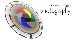 Logo de photographie Images stock
