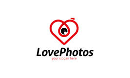 Logo de photos d'amour Illustration Libre de Droits