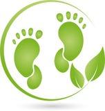 Logo de pied et d'usine, de feuilles, de soins du pied et d'orthopédie Photos libres de droits