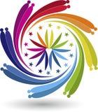 Logo de pirouette de couples Photos libres de droits
