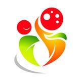 Logo de pizza de danse Illustration Stock
