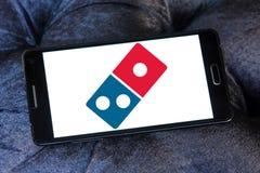Logo de pizza de dominos image stock