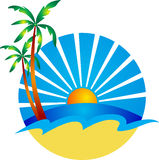 Logo de plage Photographie stock libre de droits