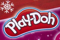 Logo de Play-Doh dans un catalogue Photo stock