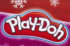 Logo de Play-Doh dans un catalogue Photos stock