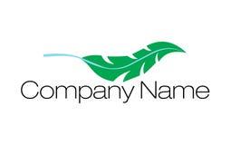 Logo de plume Photographie stock libre de droits