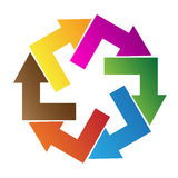 Logo de pointe de flèche Photographie stock