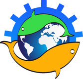 Logo de poissons Photos libres de droits