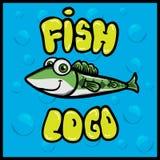 Logo de poissons d'amusement de bande dessinée image stock
