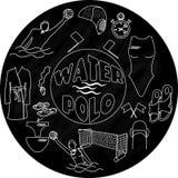 Logo de polo d'eau sur le tableau noir Photographie stock