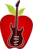 Logo de pomme de guitare illustration stock