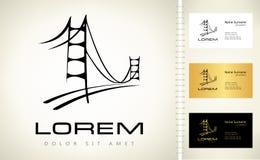 Logo de pont Photographie stock