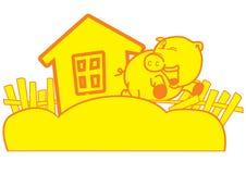 Logo de porc Photographie stock libre de droits