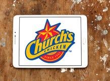 Logo de poulet de Churchs images stock