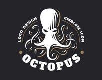 Logo de poulpe - illustration de vecteur Conception d'emblème illustration stock