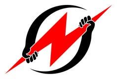 Logo de pouvoir Photos libres de droits