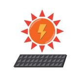 Logo de pouvoir de Sun Photo stock