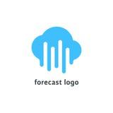 Logo de prévision avec le nuage bleu fondu illustration libre de droits