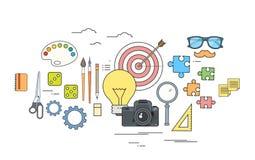 Logo de processus créatif de Work Tools Color de concepteur d'icône illustration libre de droits