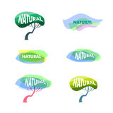 Logo de produits naturels Photo stock