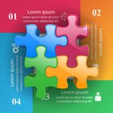 Logo de puzzle Affaires Infographics Photo libre de droits