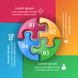 Logo de puzzle Affaires Infographics Photo stock