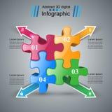 Logo de puzzle Affaires Infographics Photo libre de droits